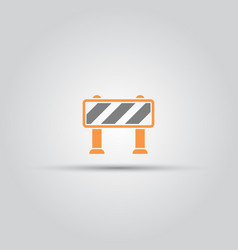 road barrier isolated colored icon vector image