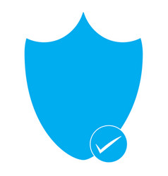 Security shield icon on white background vector