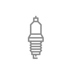 Simple car candle spark plug line icon symbol vector