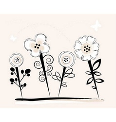 summer floral graphic vector image vector image