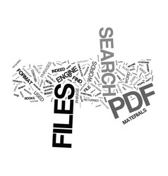 the easy way to search pdf files text background vector image vector image
