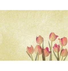 Vintage floral with space for text EPS 10 vector image vector image
