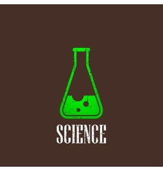 Vintage with laboratory equipment icon science vector
