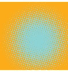 Yellow background with light spot pop art comic vector