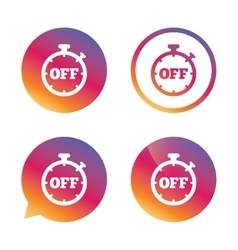 Timer off sign icon stopwatch symbol vector