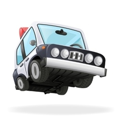 Police car icon law isolated realistic 3d design vector