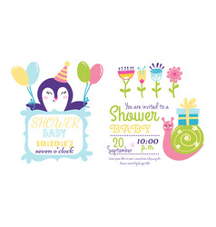 Baby shower badge happy mothers day insignias vector