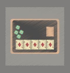 Flat shading style icon board card chip vector