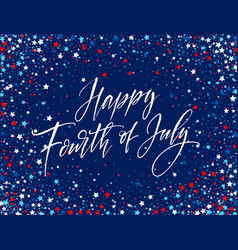Fourth of july celebration banner greeting card vector