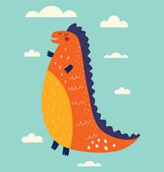 Funny dinosaur vector