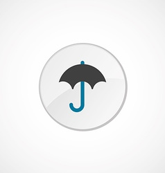 Umbrella icon 2 colored vector