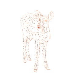Red dot shape of deer vector