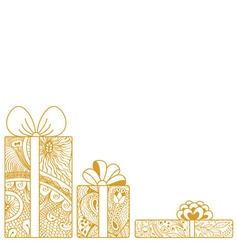 Gift boxes composition on white background vector