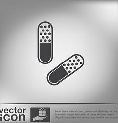 Pill tablet icon vector