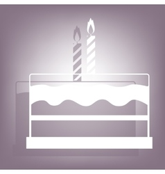 Birthday cake icon with shadow vector