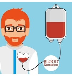 Blood donation campaign vector