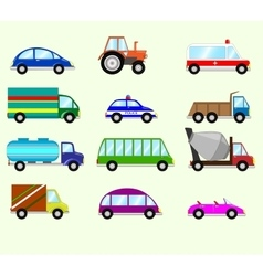 Different types vehicles vector