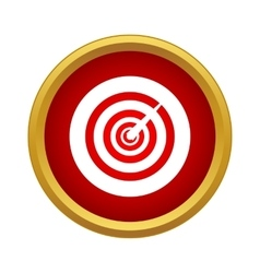 Game darts icon simple style vector