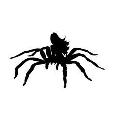 Arachne spider monster woman silhouette ancient vector