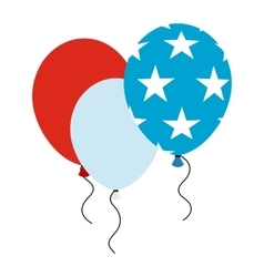 Balloons in the USA flag colors icon vector image vector image