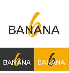 Banana logo letter b logo logo template vector