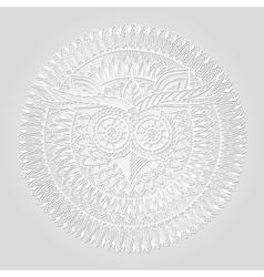 Birds mandala theme owl white mandala with vector