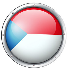Chile flag design on round badge vector