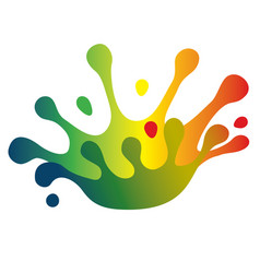 color splash crown vector image