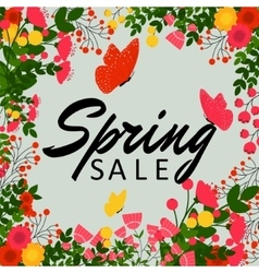 Colorful spring sale background vector