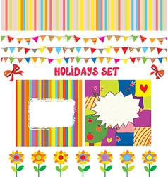 Holidays or party design elements set vector