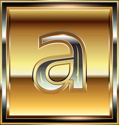 Ingot font letter a vector
