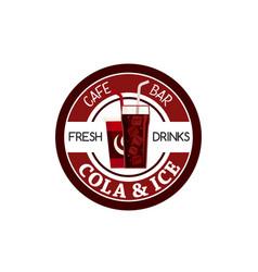 Juice soda drink fast food cafe bar icon vector