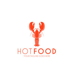 Lobster logo vector