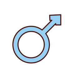 male symbol isolated icon vector image