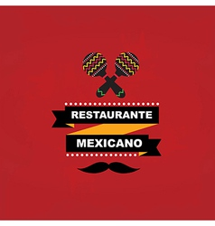 Menu mexican template design vector