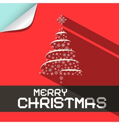 Merry Christmas Flat Design Paper Background vector image vector image