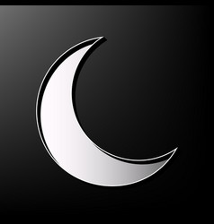 Moon sign gray 3d printed vector