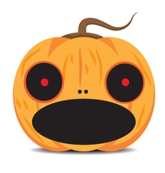 orange halloween pumpkin vector image