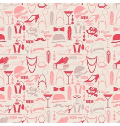 Retro of 1920s style seamless pattern vector