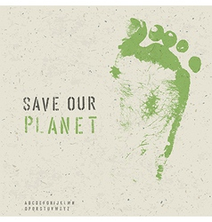 save our planet poster vector image vector image