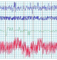 Screen recording polygraph vector
