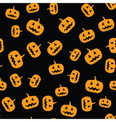 seamless pumpkins pattern vector image vector image
