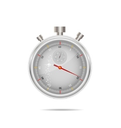 timer silver color isolated vector image vector image
