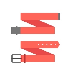two different red belt vector image