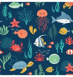 Undersea life pattern vector