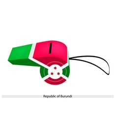 White Red and Green Colors on Burundi Whistle vector image