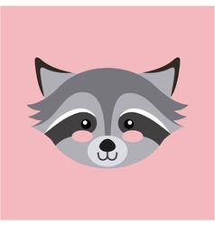 Cute head animal isolated icon vector