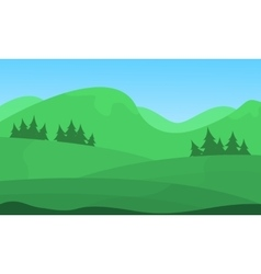 Hill beautiful scenery flat vector