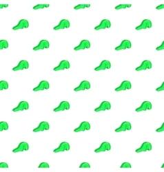 Green playground slide pattern cartoon style vector