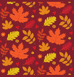 seamless autumn texture vector image